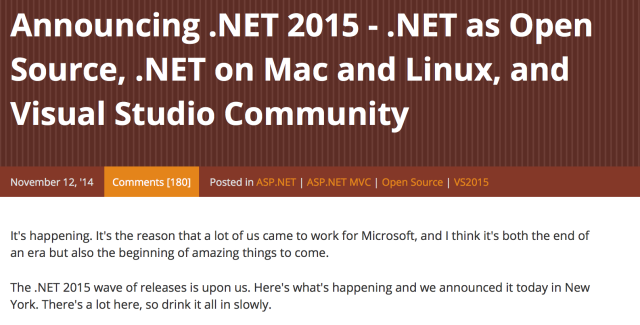 .NET as Open Source
