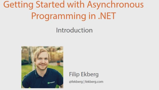 Getting Started with Asynchronous Programming in .NET